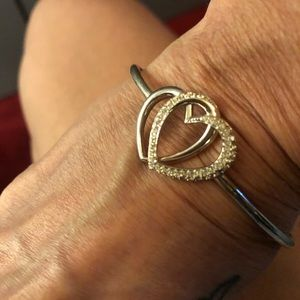 Swarovski double heart bracelet on hold reserved